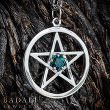 Load image into Gallery viewer, Limited Edition - Harry Dresden's Pentacle Necklace with Demonreach Opal - Badali Jewelry - Necklace