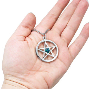 Limited Edition - Harry Dresden's Pentacle Necklace with Demonreach Opal - Badali Jewelry - Necklace