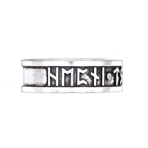 Luck - Magic - Power Furthark Rune Ring - Badali Jewelry - Ring