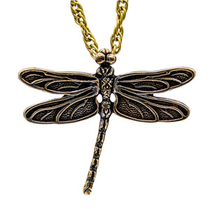 NIOBE Dragonfly - Bronze - Badali Jewelry - Necklace