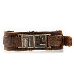 Non-Compliant Leather Cuff Bracelet - Badali Jewelry - Tags