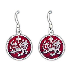 Order of the Dragon Earrings - Enameled - Badali Jewelry - Earrings