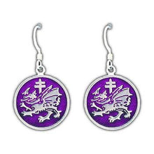 Load image into Gallery viewer, Order of the Dragon Earrings - Enameled - Badali Jewelry - Earrings