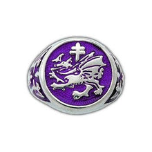 Load image into Gallery viewer, Order of The Dragon Signet Ring - Enameled - Badali Jewelry - Ring
