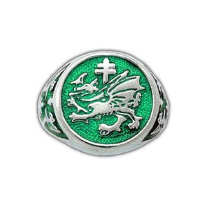 Order of The Dragon Signet Ring - Enameled - Badali Jewelry - Ring