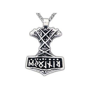 Ornate Thor's Hammer Necklace - Badali Jewelry - Necklace