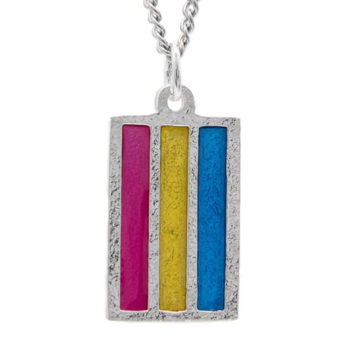 Pansexual PRIDE Flag Necklace - Badali Jewelry - Necklace