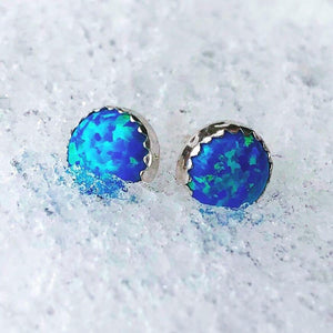 Pierceless Winter Knight's Ice Opal Earring - Badali Jewelry - Earrings