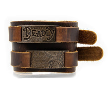 Load image into Gallery viewer, Pretty Deadly Leather Cuff Bracelet & Choker - Badali Jewelry - Tags