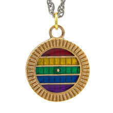 Load image into Gallery viewer, PRIDE Hobbiton™ Door - Pendant or Key Chain - Badali Jewelry - Necklace