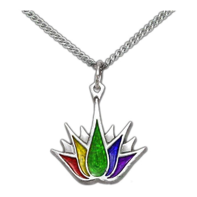PRIDE Lotus Tattoo Necklace - Badali Jewelry - Necklace