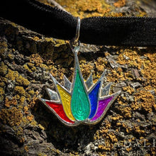 Load image into Gallery viewer, PRIDE Lotus Tattoo Necklace - Badali Jewelry - Necklace