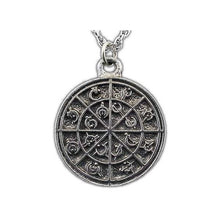 Load image into Gallery viewer, Steel Alphabet Medallion - Pewter - Badali Jewelry - Necklace