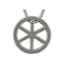 Load image into Gallery viewer, Tehlu's Iron Wheel Necklace - Badali Jewelry - Necklace
