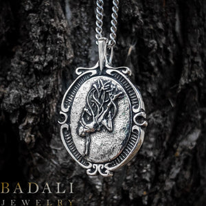 The Ascendant Warrior - Silver - Badali Jewelry - Necklace