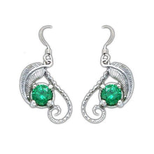 Load image into Gallery viewer, The Emeralds of GIRION - MIRKWOOD™ Elven Earrings - Badali Jewelry - Earrings