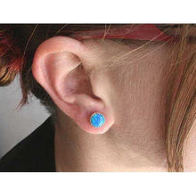 Load image into Gallery viewer, The Winter Knight's Ice Opal Earring - Badali Jewelry - Earrings