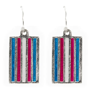 Transgender PRIDE Flag Earrings - Badali Jewelry - Earrings