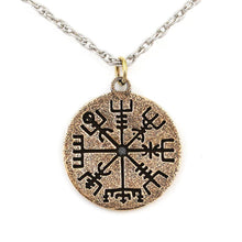 Load image into Gallery viewer, Vegvisir Necklace - Bronze - Badali Jewelry - Necklace