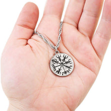 Load image into Gallery viewer, Vegvisir Necklace - Silver - Badali Jewelry - Necklace