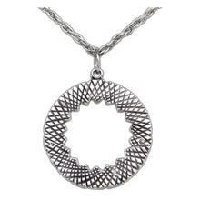 Load image into Gallery viewer, Ward Circle Pendant - Silver - Badali Jewelry - Necklace