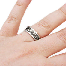 Load image into Gallery viewer, Wisdom - Wealth - Power Furthark Rune Ring - Badali Jewelry - Ring