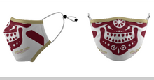 Load image into Gallery viewer, Mask VDL (Face) Garnet & Gold