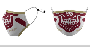 Mask VDL (Face) Garnet & Gold