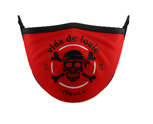 Mask VDL Logo Red & Black
