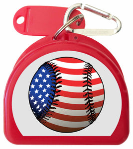 671 - Mouth Guard Case - American Baseball