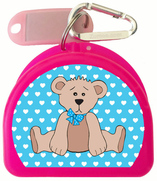 617 -  Beary Blue Mouth Guard Case