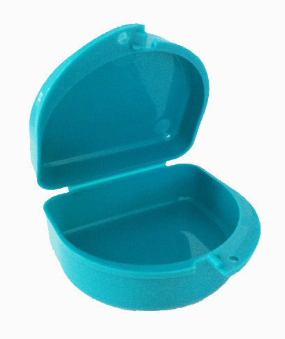 701 -  Mouth Guard Case - Aqua Petals