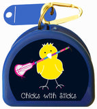 Lacrosse Mouth Guard Case - Chicks with Sticks - 623