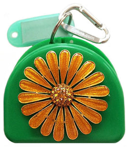 702 - Mouth Guard Case - Golden Petals