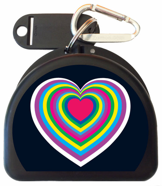 207 - Hearts Mouth Guard Case
