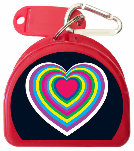 207-R - Hearts Retainer Case