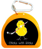 Pacifier Case - Chick with Ice Hockey Stick - 628-B