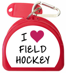 Mouth Guard Case - I LOVE Field Hockey - 622