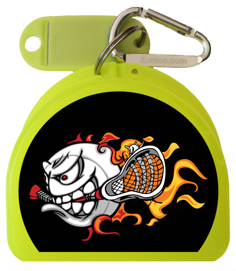651 - Mouth Guard Case - Lacrosse Fire