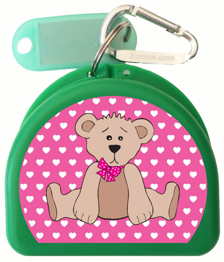 618 -  Beary Pink Mouth Guard Case