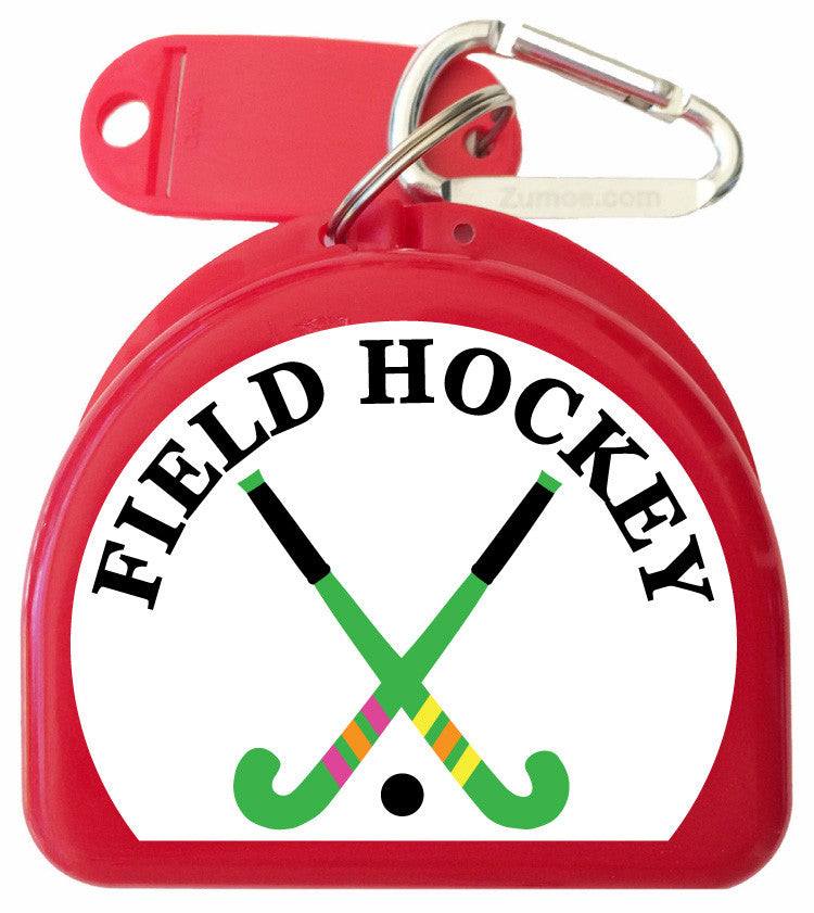 Field Hockey Mouth Guard Case - Two Crossed Sticks - 625