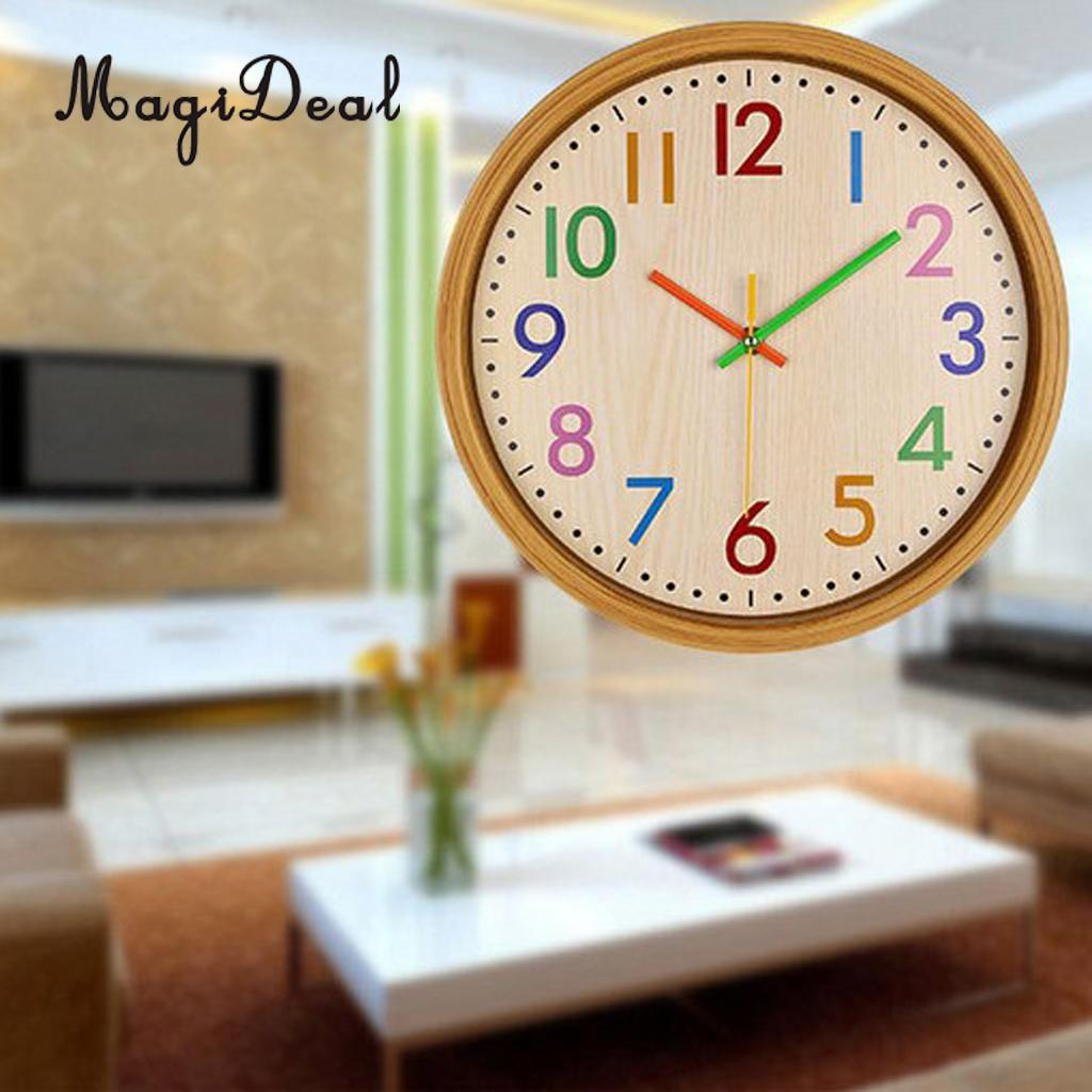 Easy-Read Rainbow Wall Clock