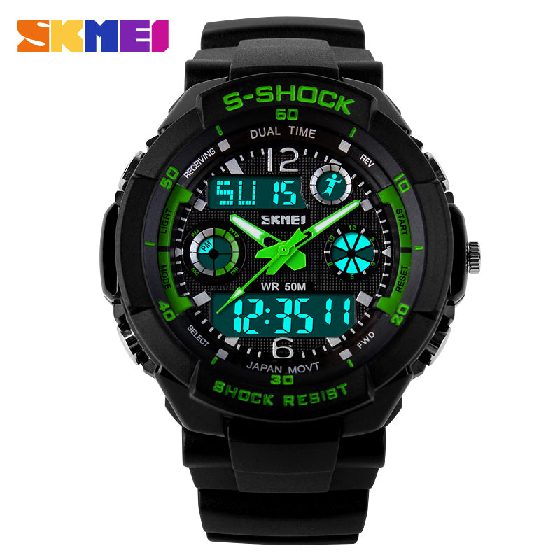 Double Time Chronograph Water Resistant Wrist Watch