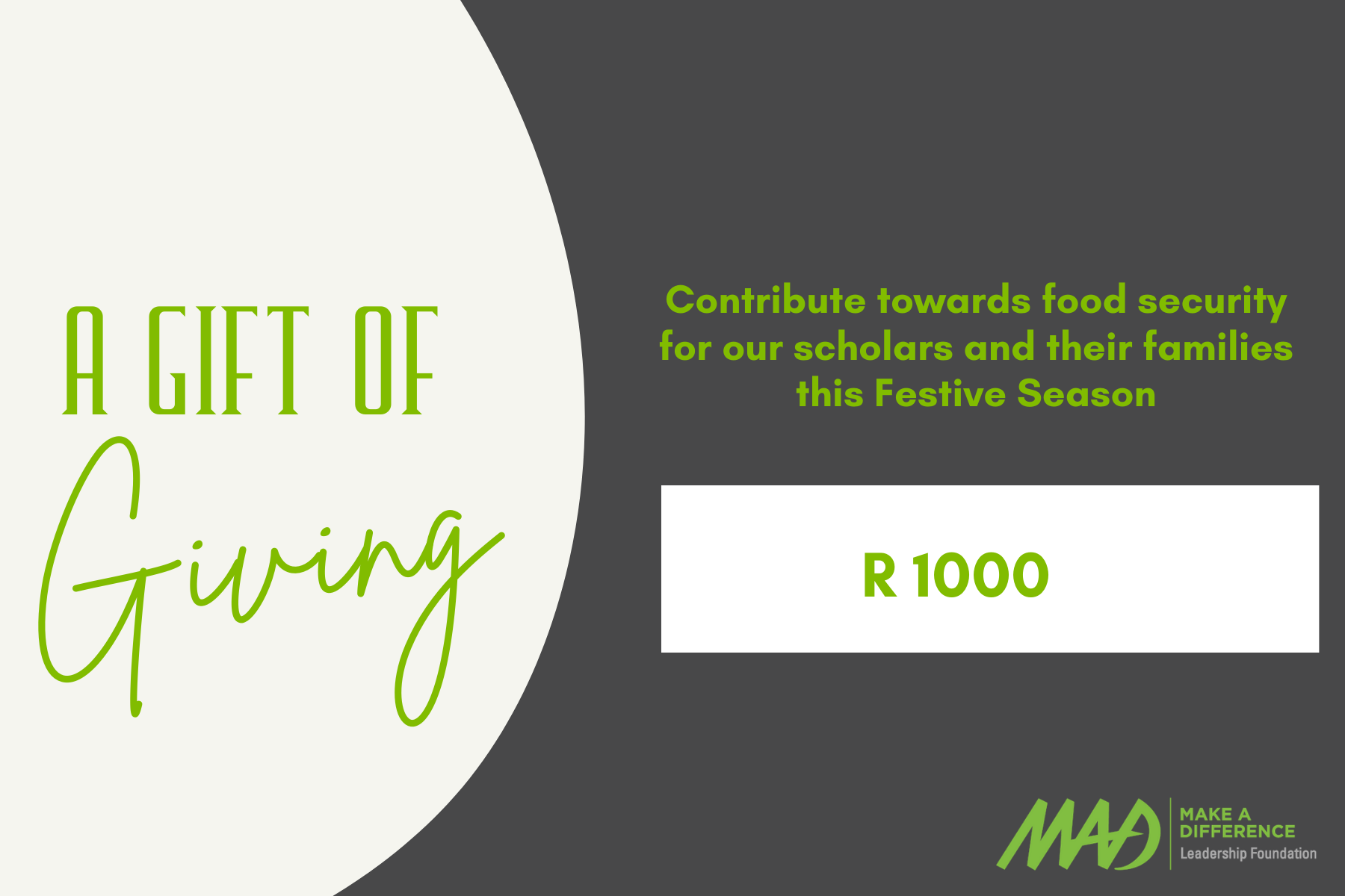 Contribute R1000 towards Food Security