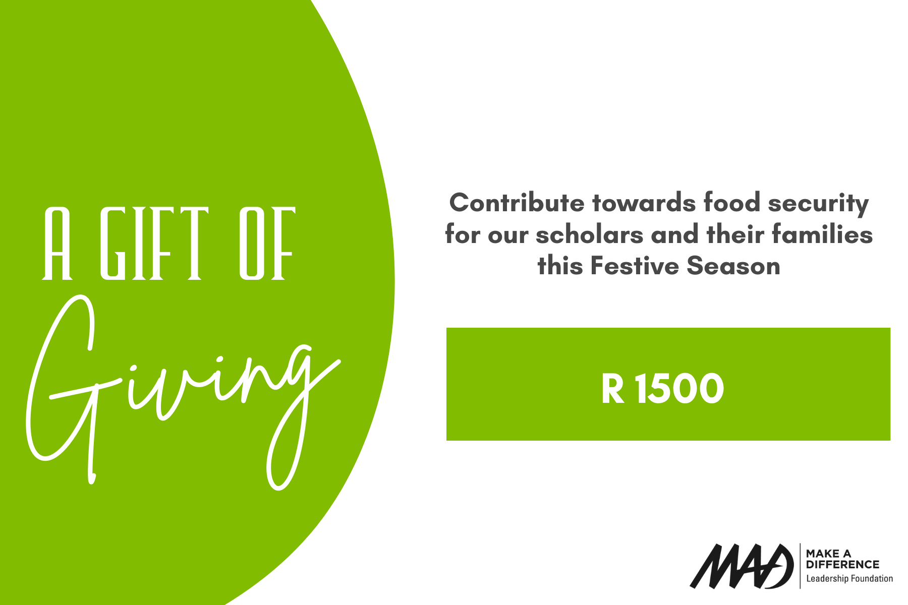 Contribute R1500 towards Food Security
