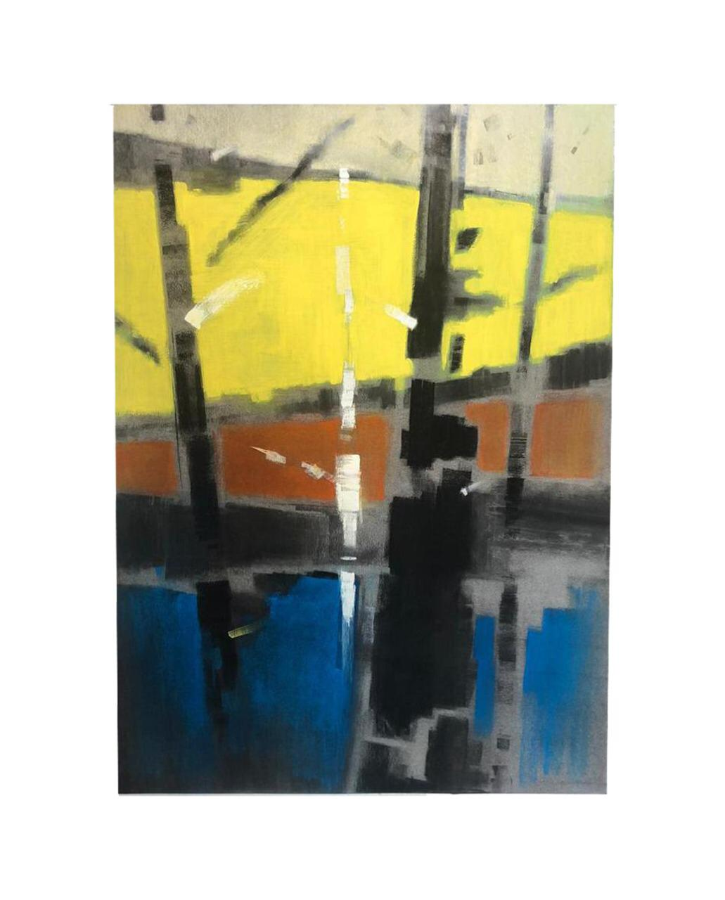 Richie Ryall:  Abstracted Landscape with Trees and Hills