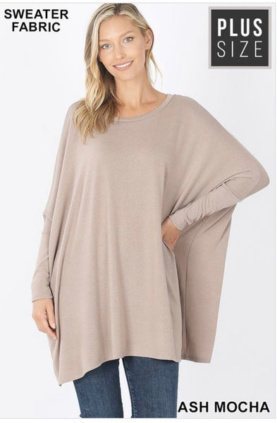 PLus Sweater Poncho