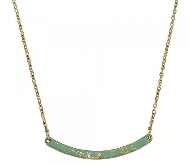 SHORT NESTED METAL NECKLACE