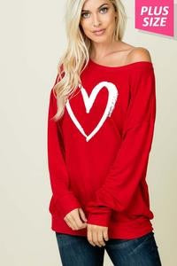RED Heart Long Sleeve