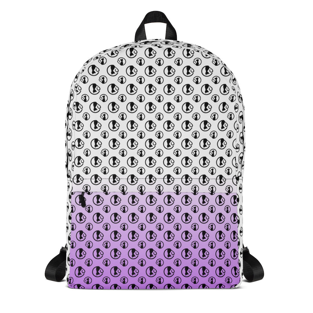 Backpack with Violet Gradient and Bibi Logos